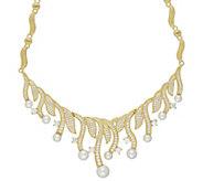 Judith Ripka 14K Clad 5.30 cttw Diamonique Pearl Necklace - J383204