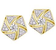 Affinity 14K 1/2 cttw Diamond Cluster Stud Earrings - J383704
