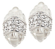 Kenneth Jay Lanes Simulated Rock Crystal Quartz Earrings - J270305