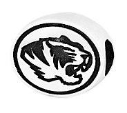 Sterling Silver University of Missouri Bead - J300805