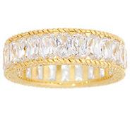 Judith Ripka 14K Clad Baguette Diamonique Eternity Ring - J334205