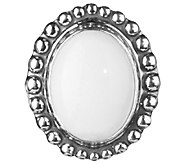 American West Treasures Sterling White Chalcedony Insert - J338105