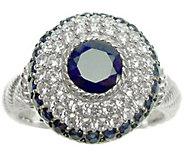 Judith Ripka Sterling Diamonique & Birthstone Ring - J341605