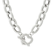 Judith Ripka 20 Sterling Verona Heart Clasp Necklace 124.0g - J341805