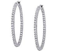 2.00 cttw Diamond Inside Out Hoop Earrings, 14K - J343905