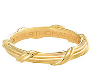Peter Thomas Roth 18K Gold Signature Classic Mens Band Ring - J344905