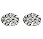 Dainty Designs 14K 1/4 cttw Diamond Oval Earrings - J345305