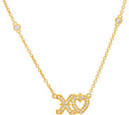 Judith Ripka Sterling Silver & 14K Clad Diamonique XO Necklace - J348005