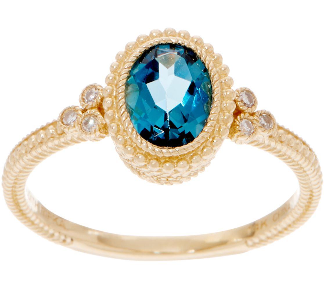 0e69337c9ffc6 Judith Ripka 14K Gold Gemstone & Diamond Ring, 0.90 cttw — QVC.com