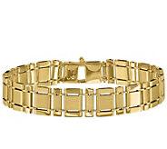 Italian Gold Mens 8-1/4 Rectangle Link Bracelet, 22.0g, 14K - J384405