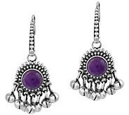 Artisan Crafted Sterling Amethyst Fringe Earrings - J389105