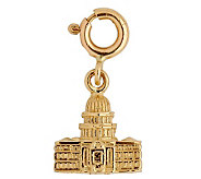 14K Yellow Gold 3-D Washington Capitol Charm - J108006