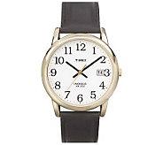 Timex Mens Easy Reader Goldtone Case Watch - J109006
