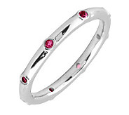 Simply Stacks Sterling Ruby Multi-stone Stackable Ring - J298606