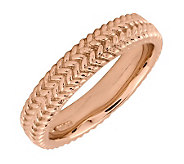 Simply Stacks Sterling 18K Rose Gold-Plated Zigzag 4.25mm Rin - J299006