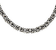 Stainless Steel 22 Fancy Byzantine Chain Necklace - J309706