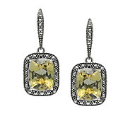 Suspicion Marcasite Sterling Quartz Earrings - J310606
