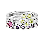Simply Stacks Sterling Spring Brights Ring Set - J312706