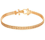 Imperial Gold 6-3/4 Woven Wheat Bracelet, 14K, 10.7g - J335106