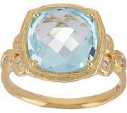 Adi Paz Cushion Shape Gemstone & Diamond Ring, 14K Gold - J347906