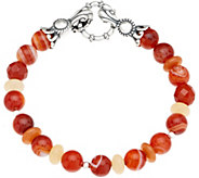 Carolyn Pollack Sterling Silver Multi Gemstone Bead Bracelet - J352706