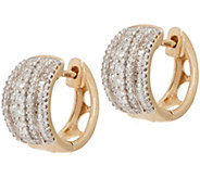 Diamond Huggie Hoop Earrings, 3/4 cttw, 14K, by Affinity - J354806
