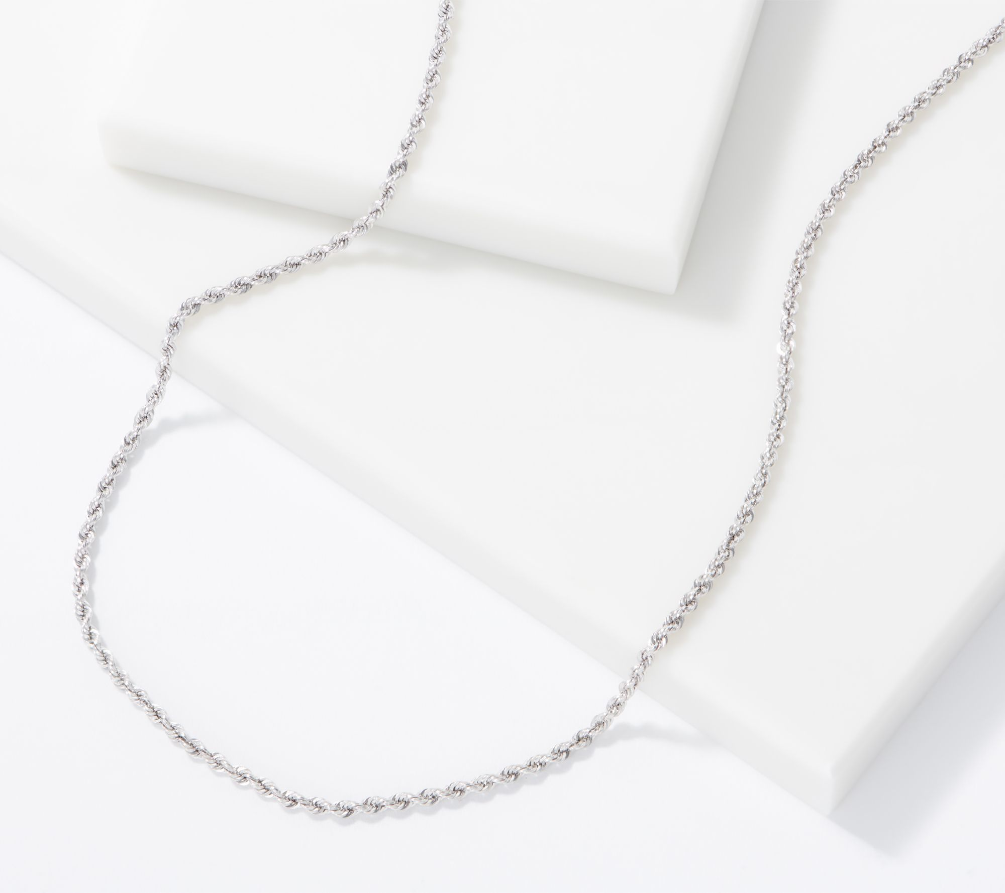 """Eterna Gold 16"""" Shimmer Rope Chain Necklace W/ Color 2.09g,14 K by The Eterna Gold® Collection"""