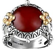 Barbara Bixby Sterling & 14K Carnelian Ring - J379306