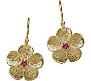 Adi Paz 14K Gold Pink Tourmaline Flower Earrings - J382506