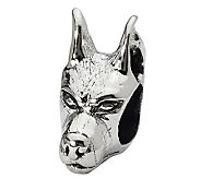 Prerogatives Sterling Doberman Pinscher Head Bead - J299507