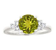 Premier 1.65cttw Round Peridot & Diamond Ring,14K - J337907