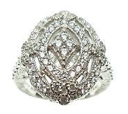 Judith Ripka Sterling Diamonique Openwork Ring - J338007