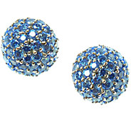 Judith Ripka Sterling & Colored Diamonique PaveEndcaps - J338307