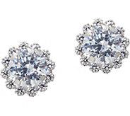 Diamonique Round Halo Stud Earrings, 14K Gold - J347107