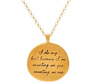 Maya Angelou I do my best 14K Gold Plated Quote Pendant by Dogeared - J347407