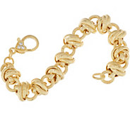 Judith Ripka 6-3/4 14K Clad Verona Rolling Link Bracelet 31.3g - J348207