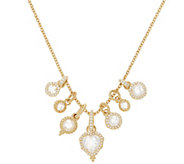 Judith Ripka 14K Clad 9.50 cttw Diamonique Charm Necklace - J352307
