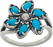 Carolyn Pollack Sleeping Beauty Turquoise Sterling Silver Pinwheel Ring - J353907