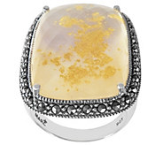 Suspicion Sterling Mother-of-Pearl Doublet & Marcasite Ring - J385107