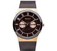 Bering Unisex Brown Milanese Bracelet Watch - J388007