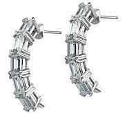Moissanite 2.70 cttw Half-Hoop Post Earrings, 14K - J388307