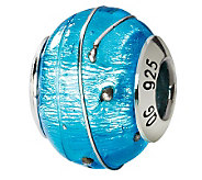 Prerogatives Sterling Blue & Silver Italian Murano Glass Bead - J111608