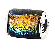 Prerogatives Sterling Rainbow Dichroic Glass Barrel Bead - J113408