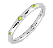 Simply Stacks Sterling Peridot Multi-stone Stackable Ring - J298608