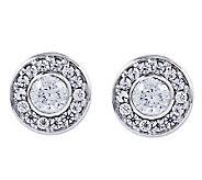Diamonique 3/4 cttw Earrings, Platinum Clad - J309708