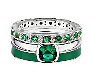 Simply Stacks Sterling Luck of the Irish Ring Set - J312708
