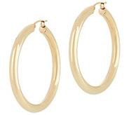Dieci 1-1/2 Polished Round Hoop Earrings, 10K Gold - J334608