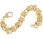 Judith Ripka 7-1/4 14K Clad Verona Rolling Link Bracelet 34.2g - J348208