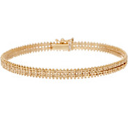 Imperial Gold 7-1/4 Starlight Bracelet, 14K Gold, 9.8g - J352508