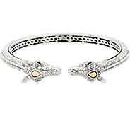 JAI Sterling Silver & 14K Gold Giraffe Cuff Bracelet, 30.6g - J353008